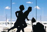 Rennen om je vliegtuig te halen