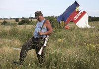 Russian fighter after downing MH17