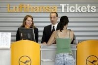 Lufthansa ticket counter