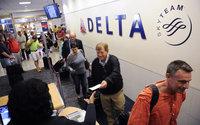Boarding a Delta plane