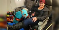 Monica Froese and her emotional support animal