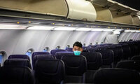 Plane almost empty despite stimulus package